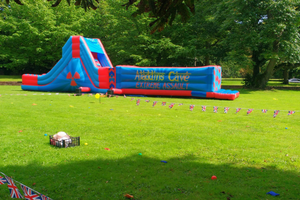 inflatable assault course for hire