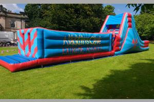 inflatable assault course closeup