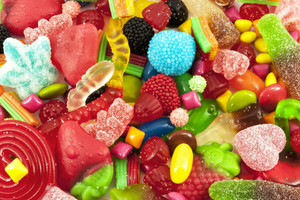mixed jelly sweets